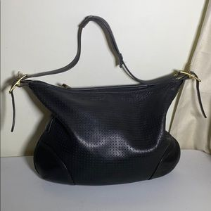 Coach legacy black perforated leather bag Vtg